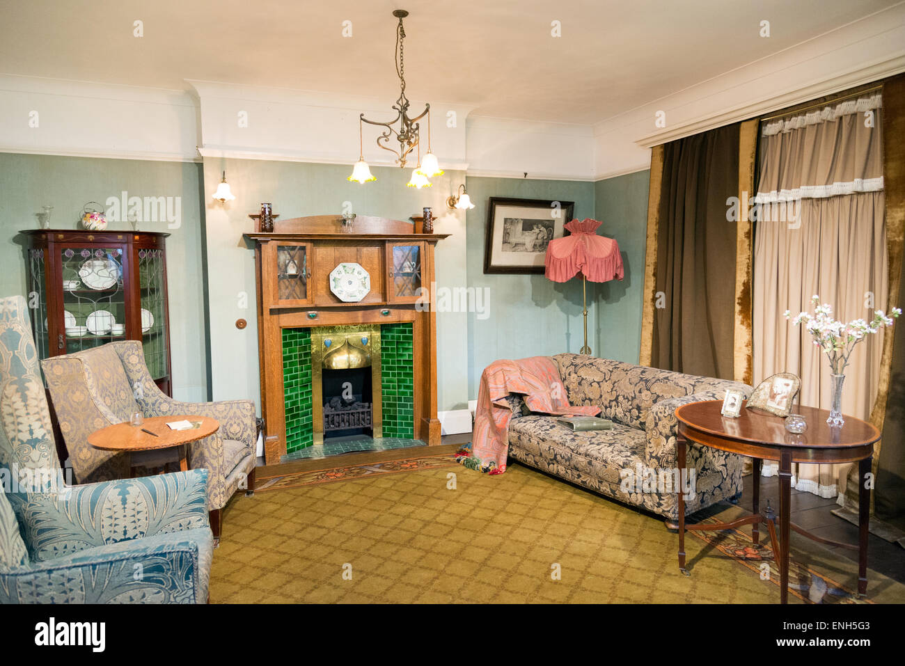 1900 1914 Edwardian Period Room In The Geffrye Museum Shoreditch London England