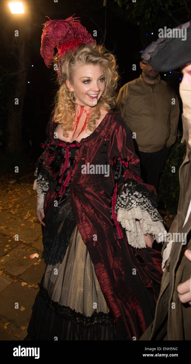 Jonathan Rossu0027 Halloween party - Arrivals. Natalie Dormer arrives a Jack the Ripper murder victim Featuring Natalie Dormer Where London United Kingdom ...  sc 1 st  Alamy : ross costumes halloween  - Germanpascual.Com