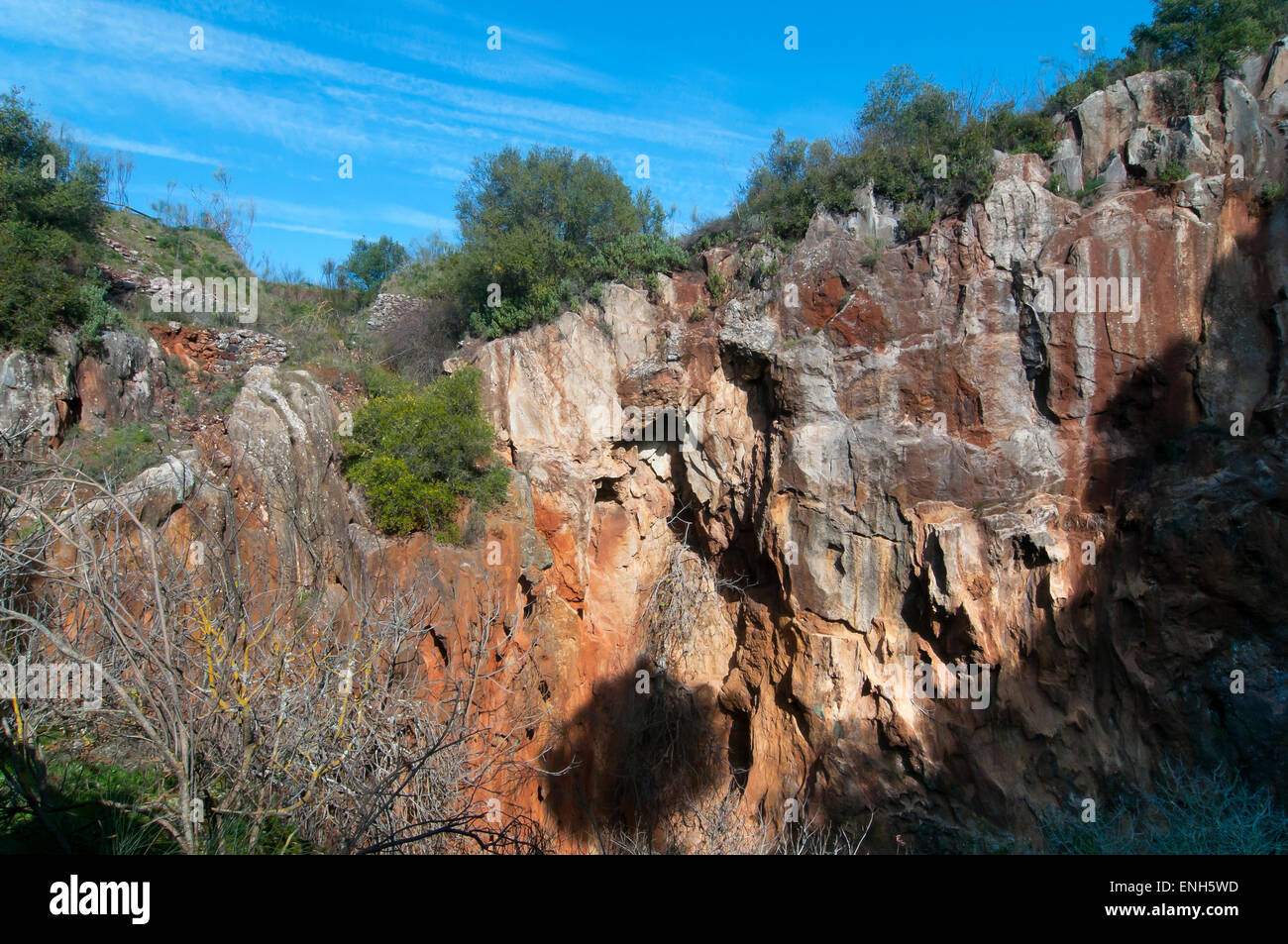 Natural monument -Mina La Jayona-, Fuente del Arco, Badajoz province, Region of Extremadura, Spain, Europe Stock Photo