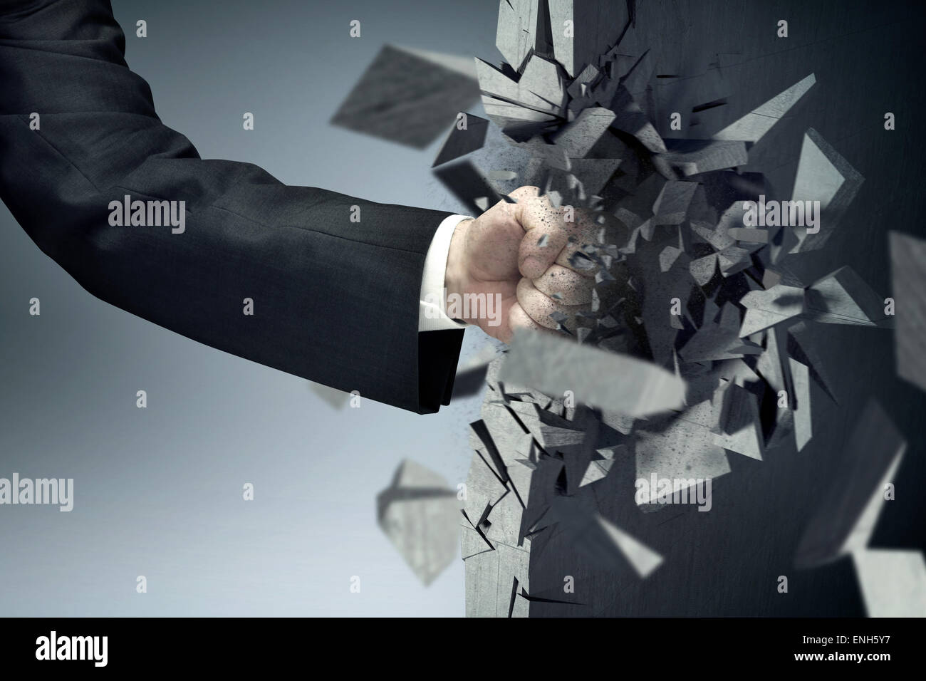 The man with a powerful fist - Stock Image