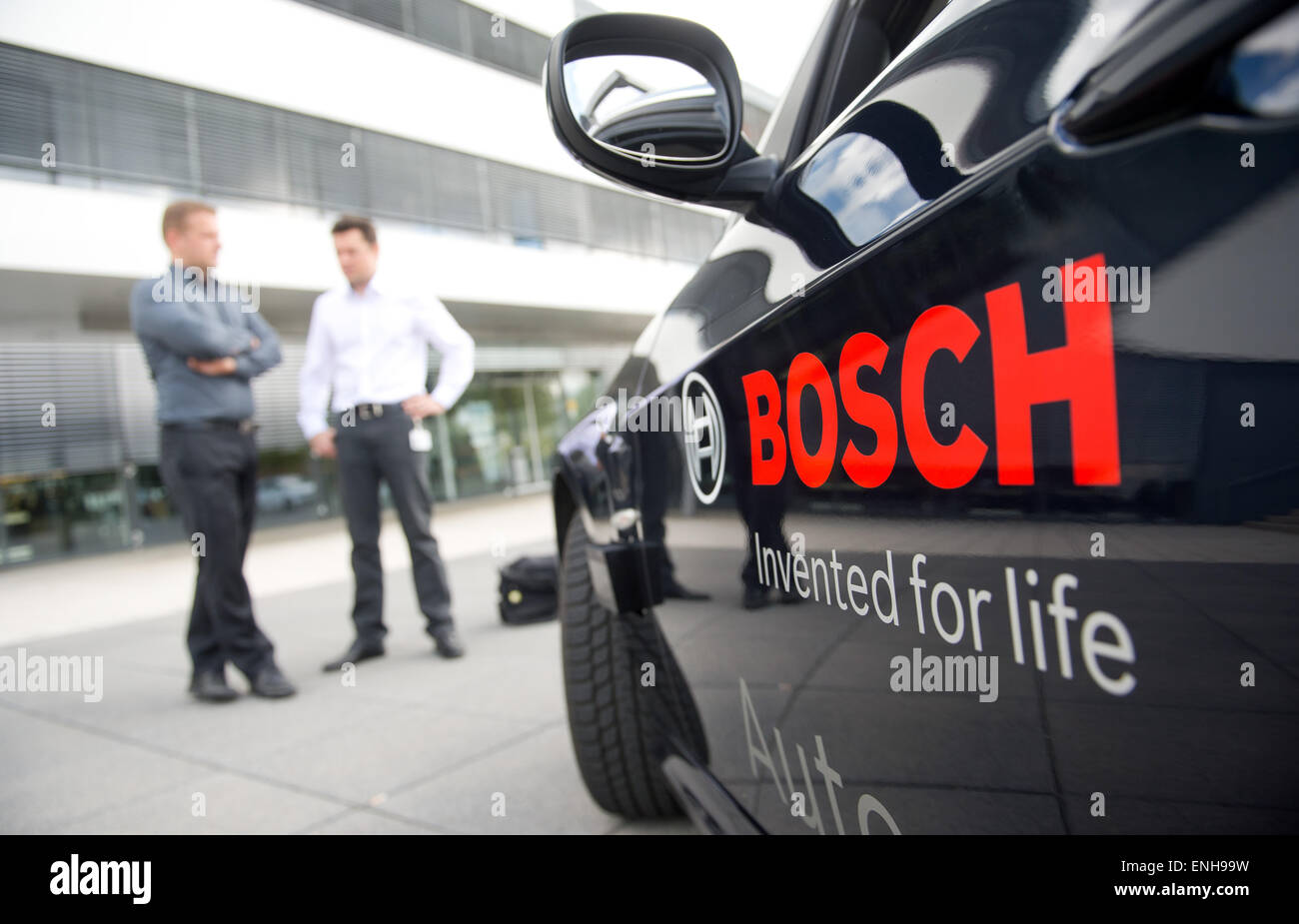 Abstatt, Germany. 04th May, 2015. The lettering \'Bosch - Invented ...