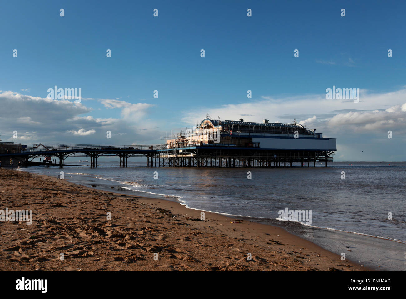 Cleethorpes Pier at Cleethorpes beach near Grimsby Stock Photo