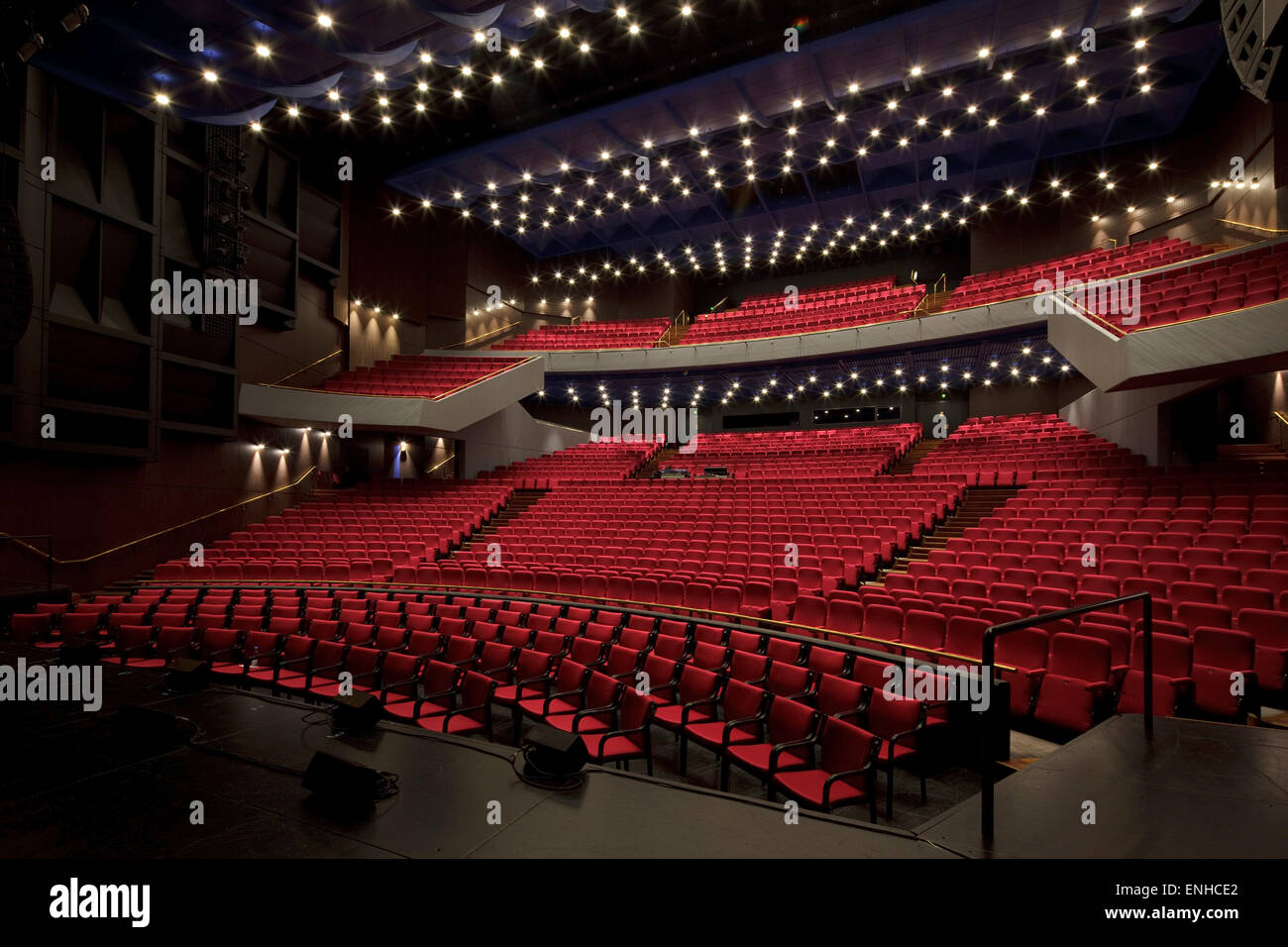 Oblique view of The Great Hall. Aarhus Concert Hall, Aarhus, Denmark. Architect: C F Moller Architects, 2007. - Stock Image