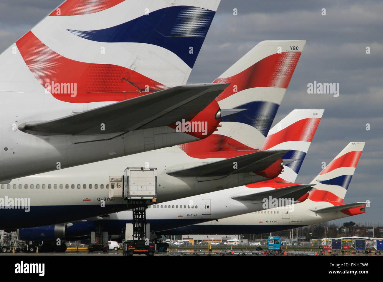 BRITISH AIRWAYS HEATHROW AIRPORT - Stock Image