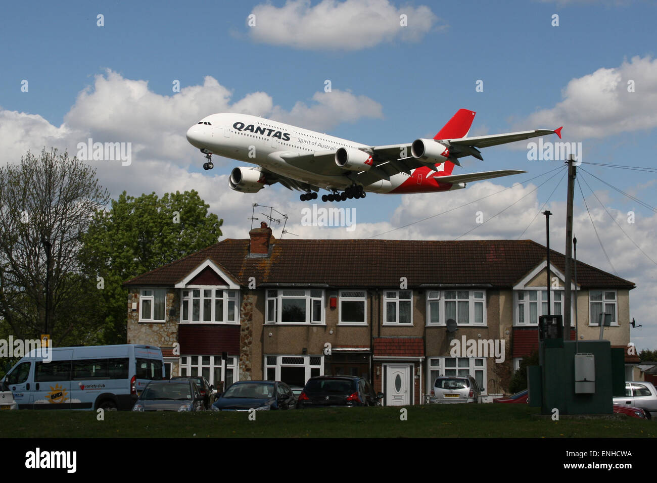 House Plane Heathrow Noise Runway Airport Expansion Stock Photo