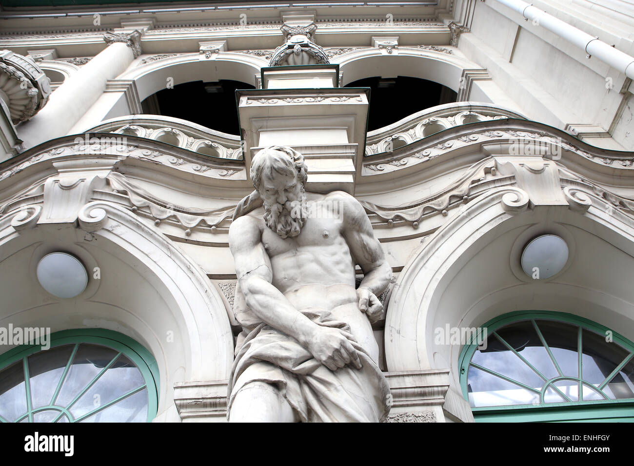 close up of the front side of the Latvian National Theater.Riga,Latvia,Europe - Stock Image