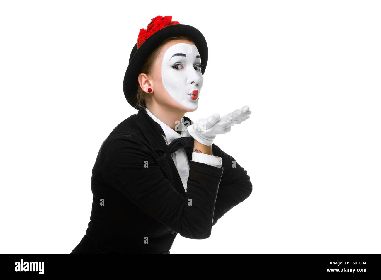 Portrait of the mime - Stock Image