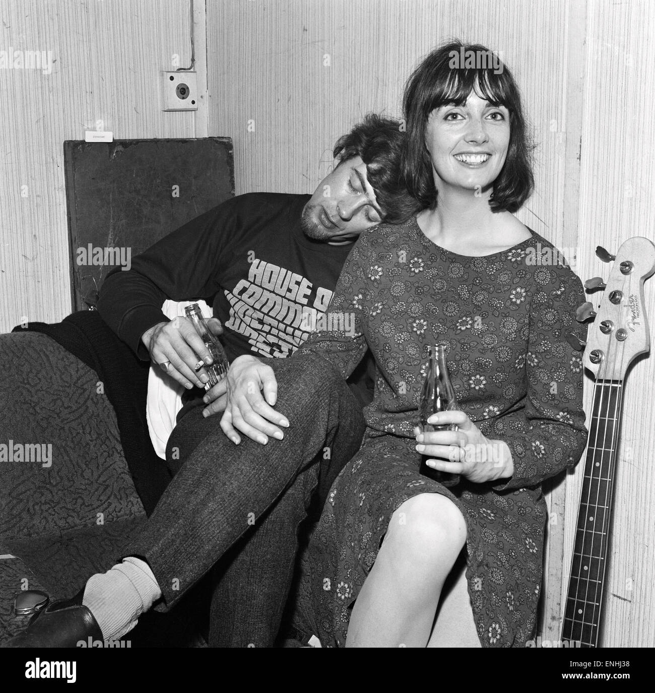 Pioneering english blues singer and musician john mayall takes a nap pioneering english blues singer and musician john mayall takes a nap on the shoulder of his wife pamela in the band room between appearances of his pop publicscrutiny Images