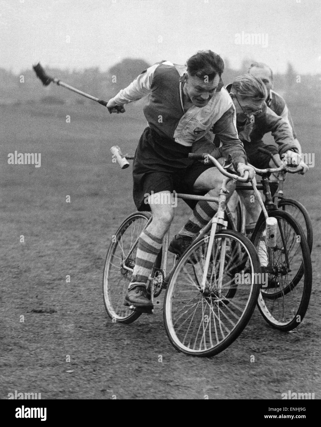 Transport: Cycle: Cycle Polo November 1949. - Stock Image