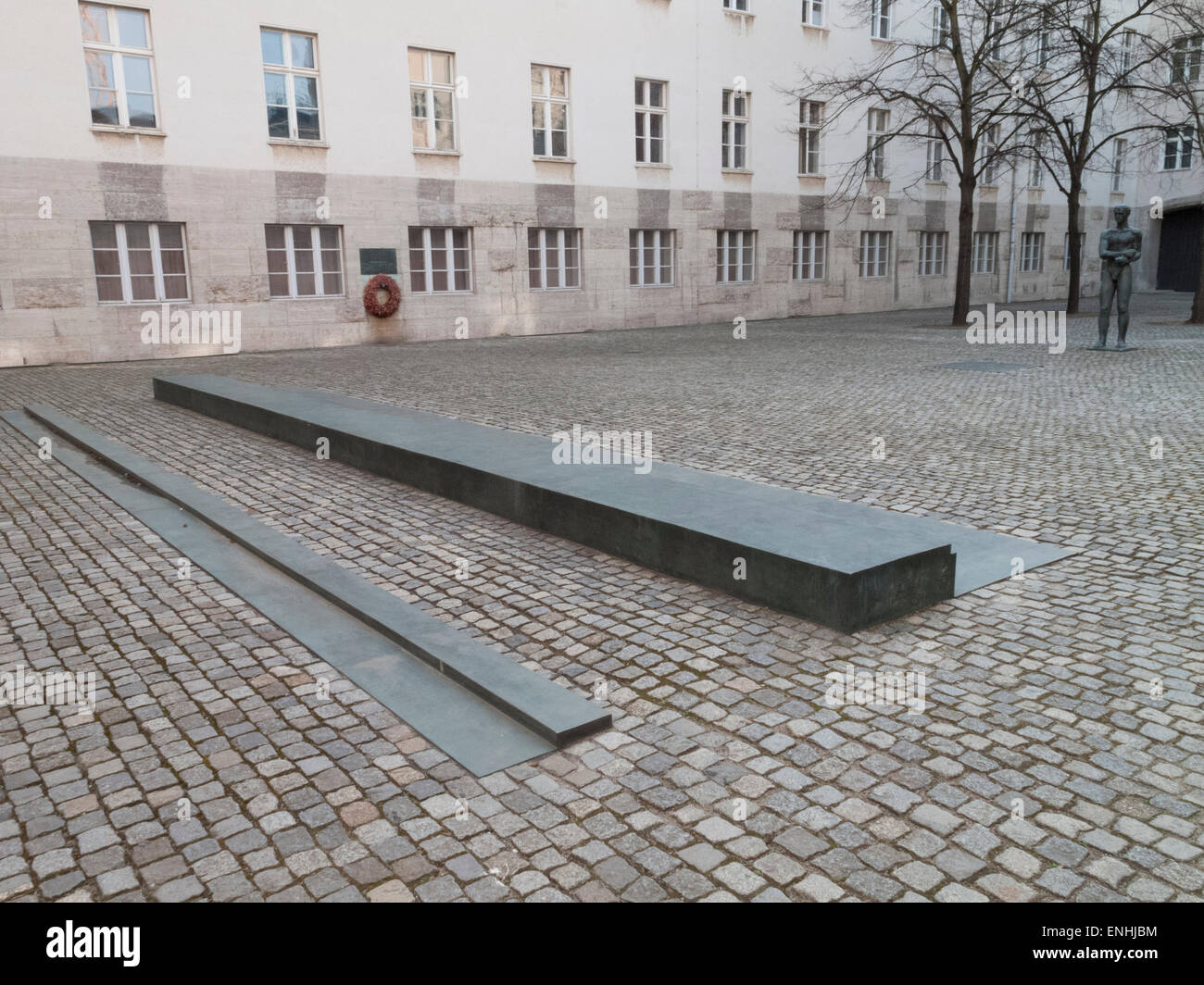 Claus von Stauffenberg monument Bendleblock Berlin Germany - Stock Image