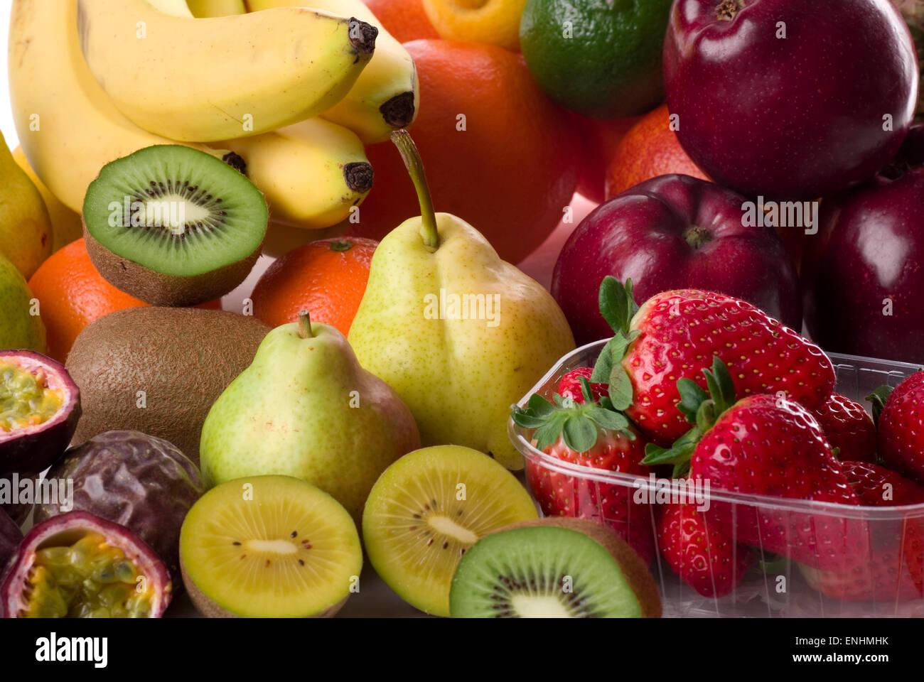 Various fresh fruits. - Stock Image