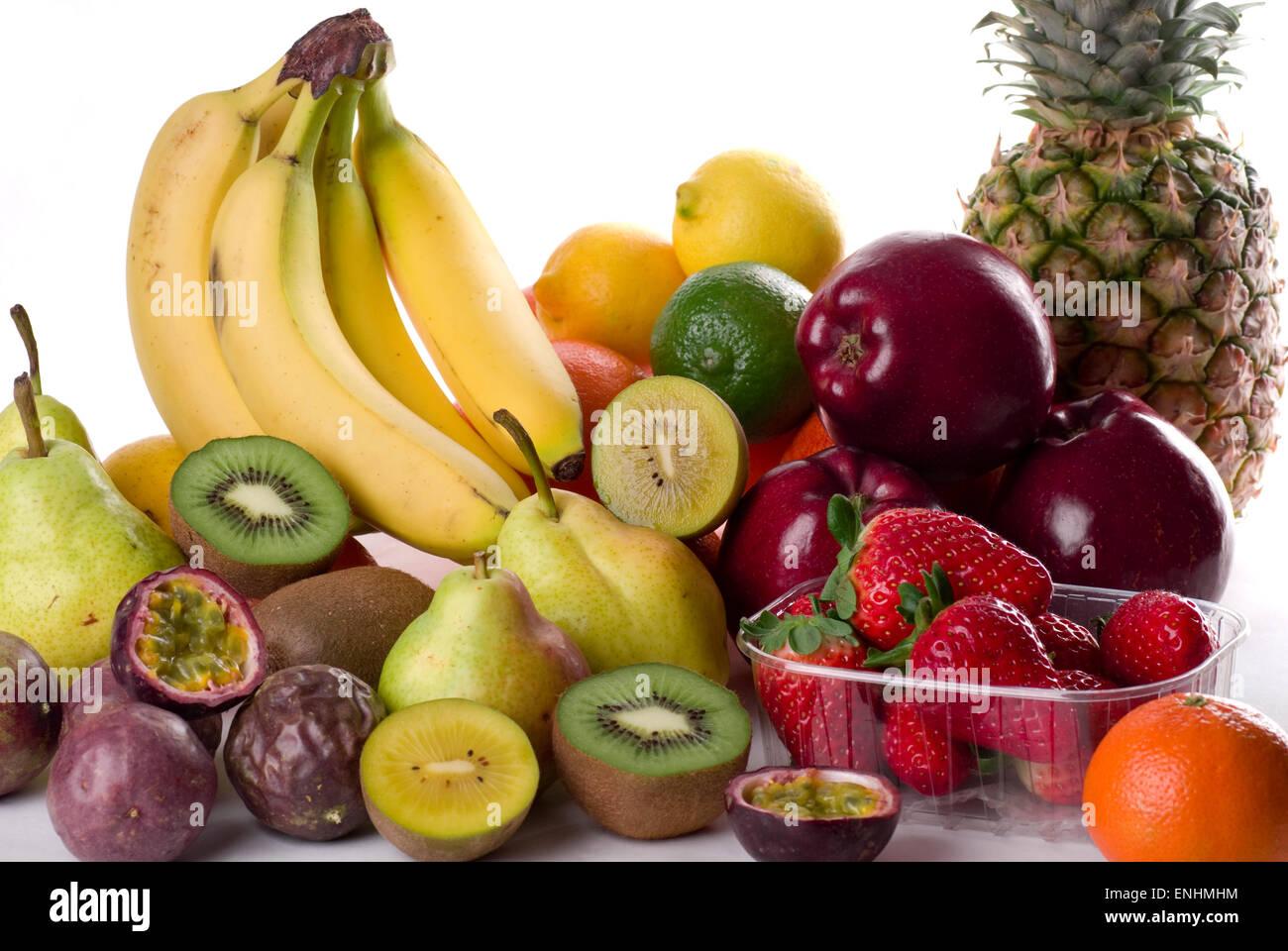 Various fresh fruit. - Stock Image
