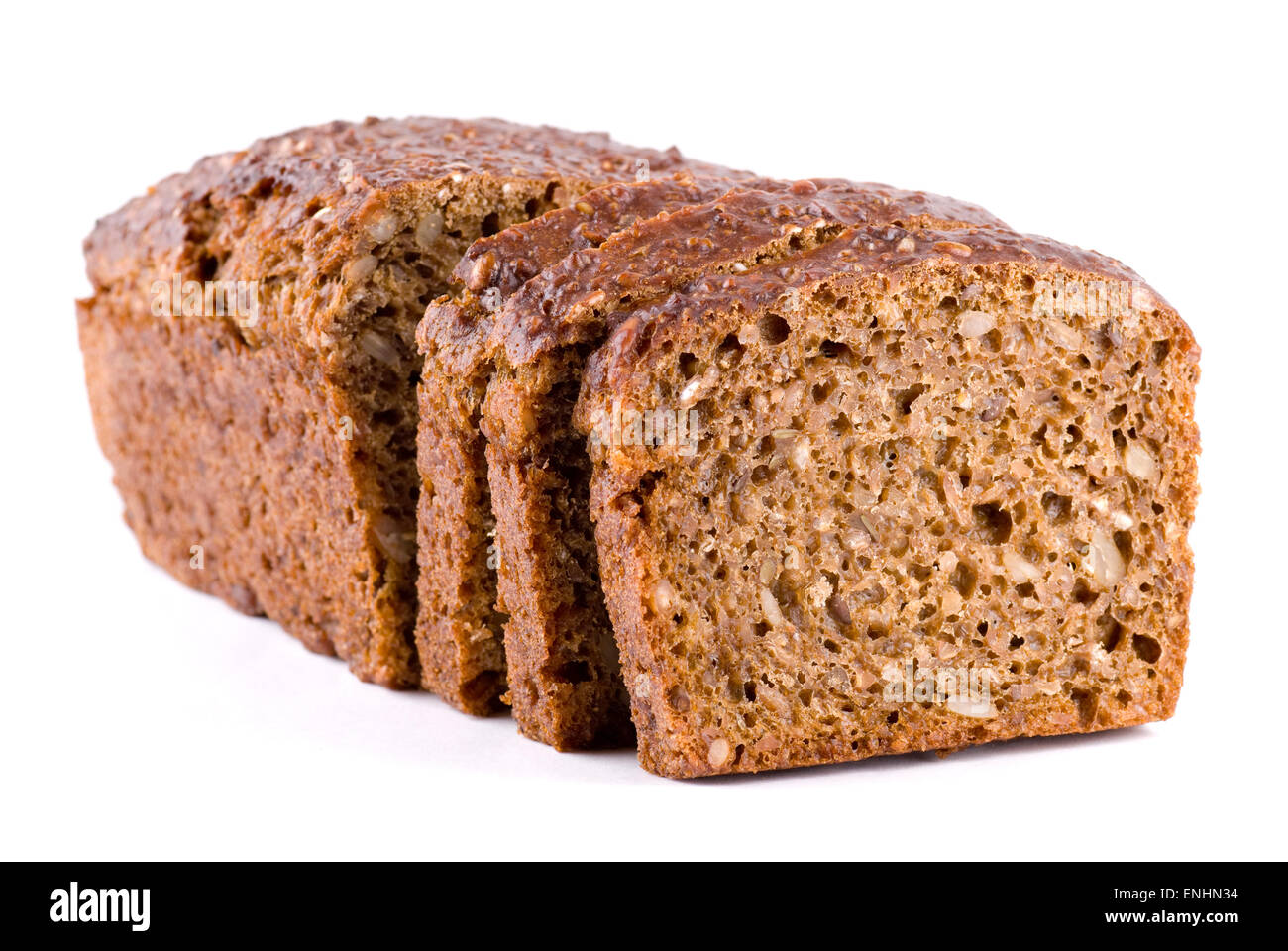 Sliced rye bread close up. - Stock Image