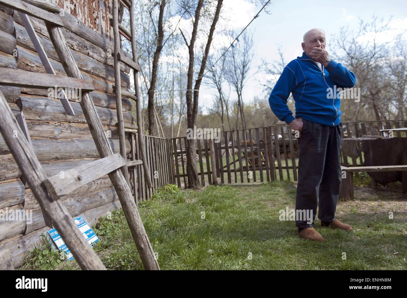 April 24, 2015 - Chernobyl, Ukraine - Ukraine. Pripyat. Chernobyl. Jevgenie Markovitjs. 77 years old...Several hundred - Stock Image