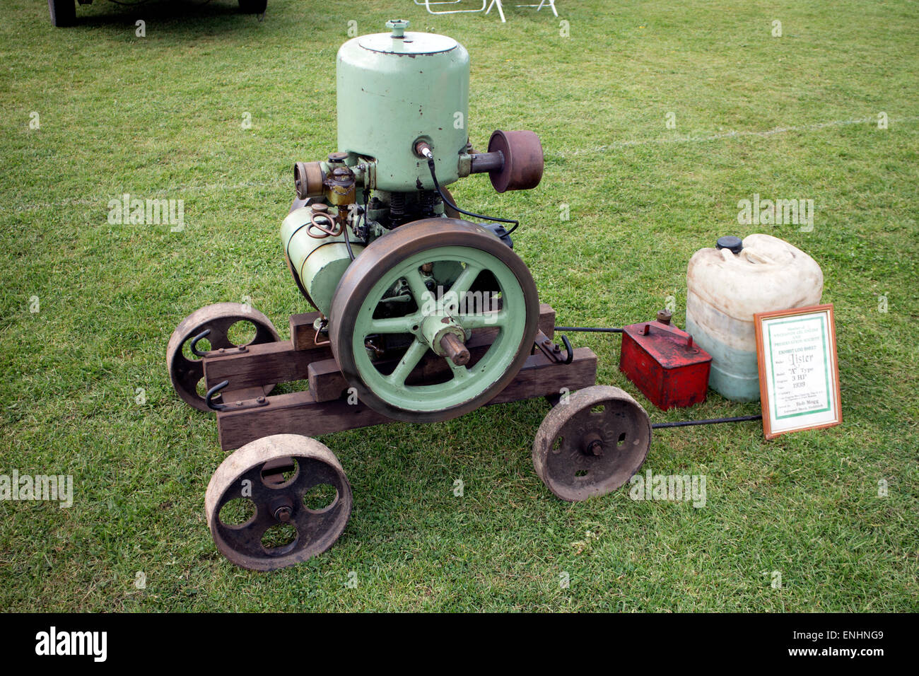 A 1939 Lister stationary engine Stock Photo