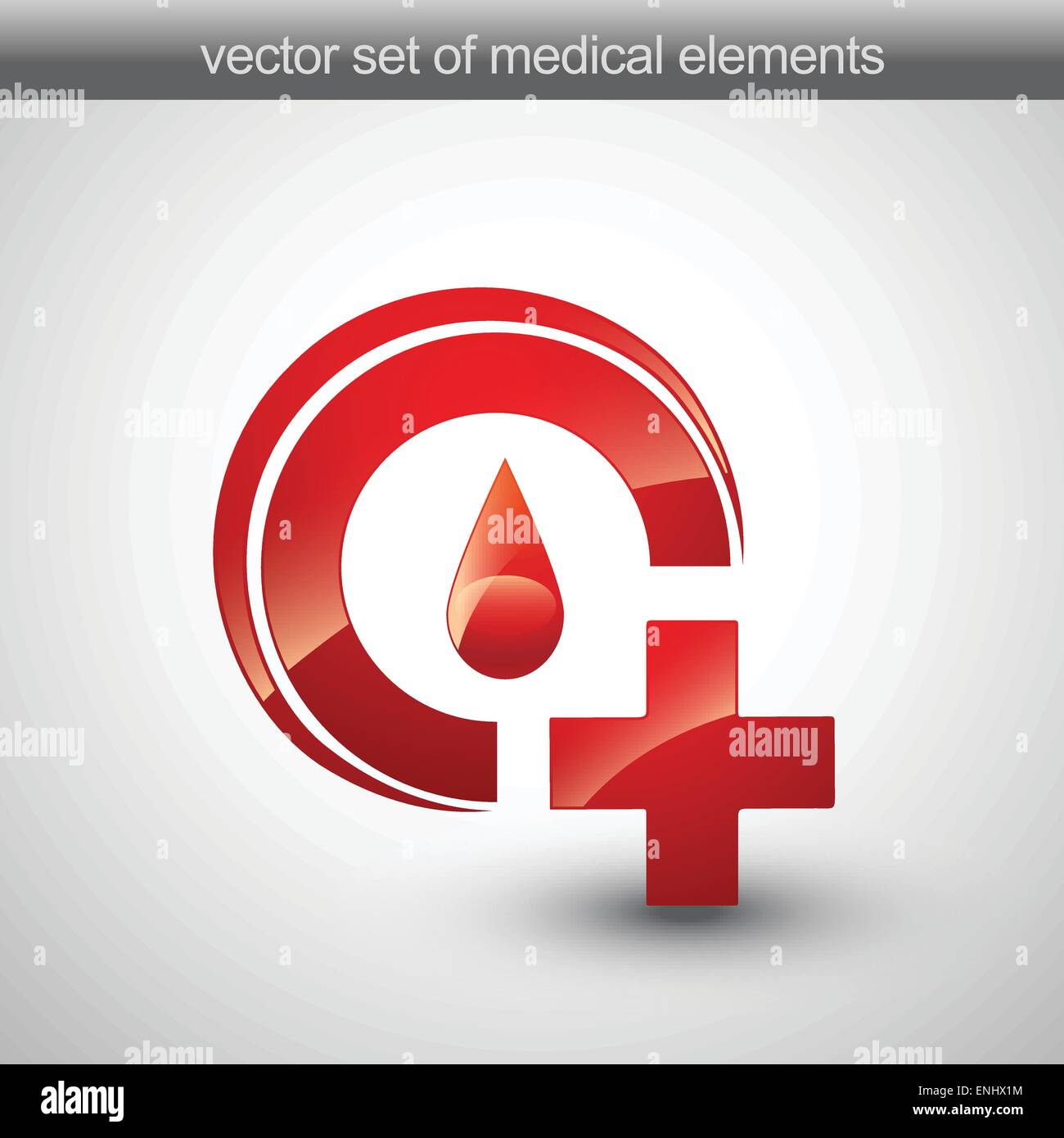 Vector Symbol Of Blood And Plus Sign Stock Vector Art Illustration