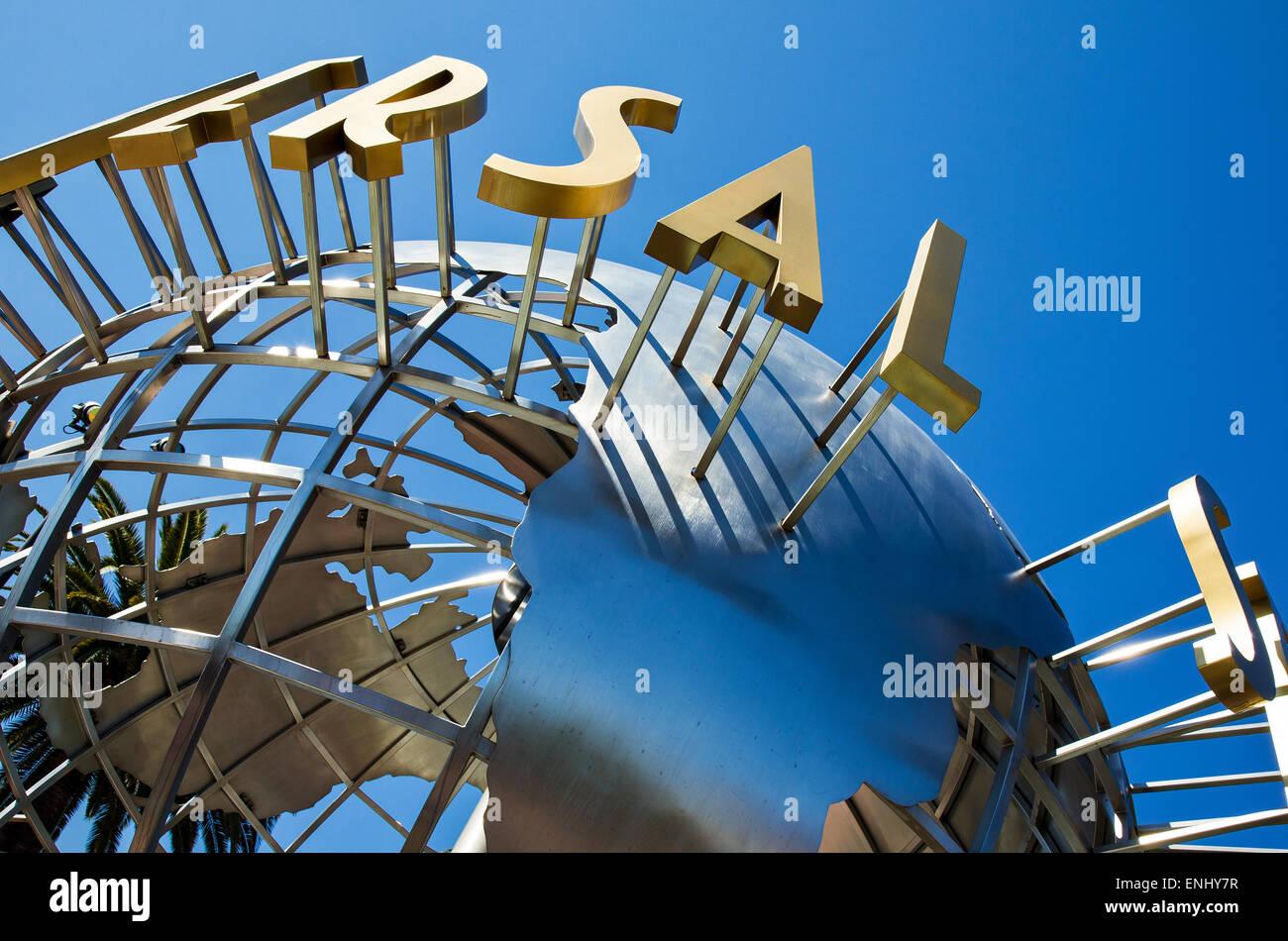 U.S.A., California, Los Angeles, Hollywood, the Universal Studios entrance - Stock Image