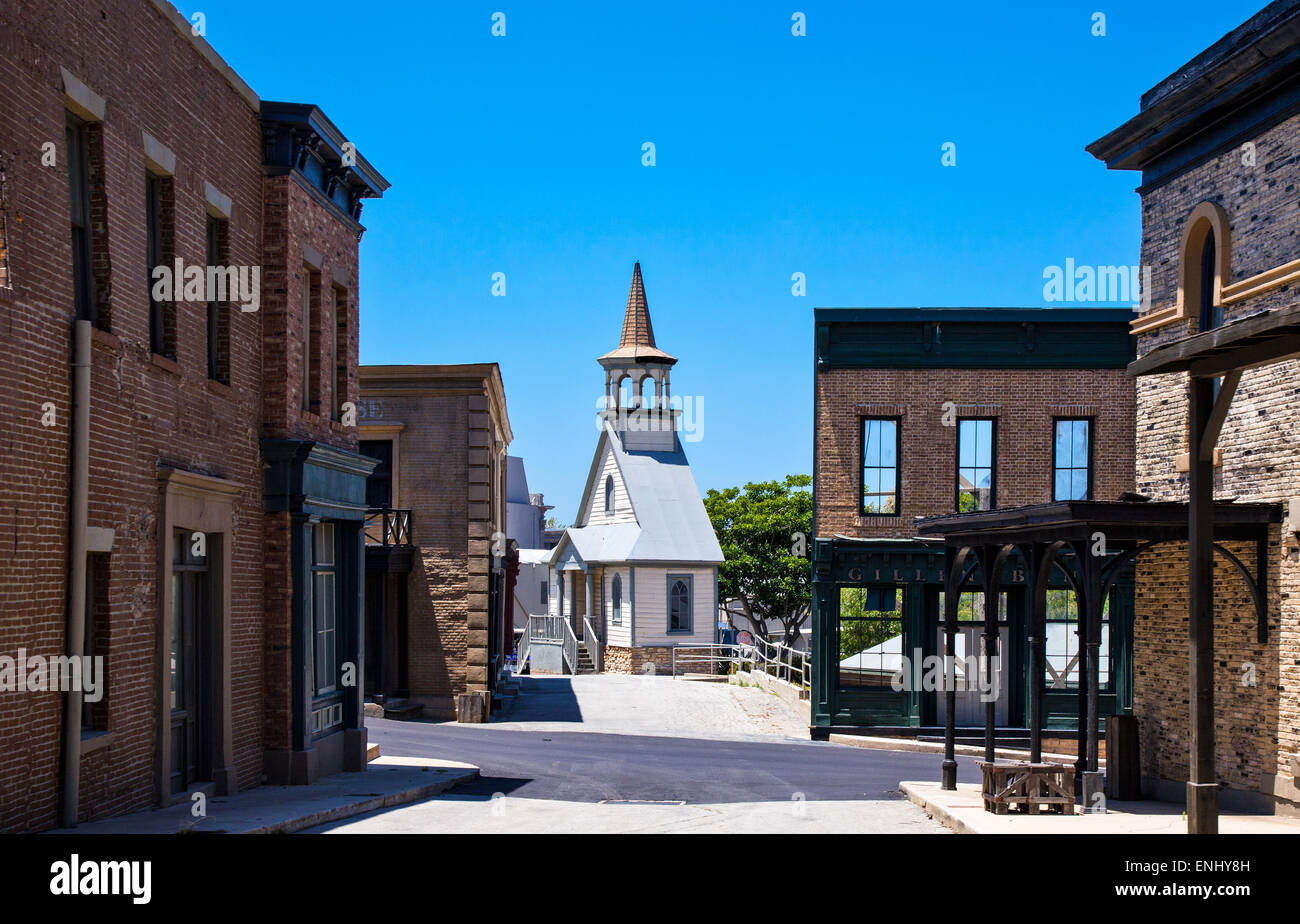 U.S.A., California, Los Angeles, Hollywood, the Universal Studios stages - Stock Image