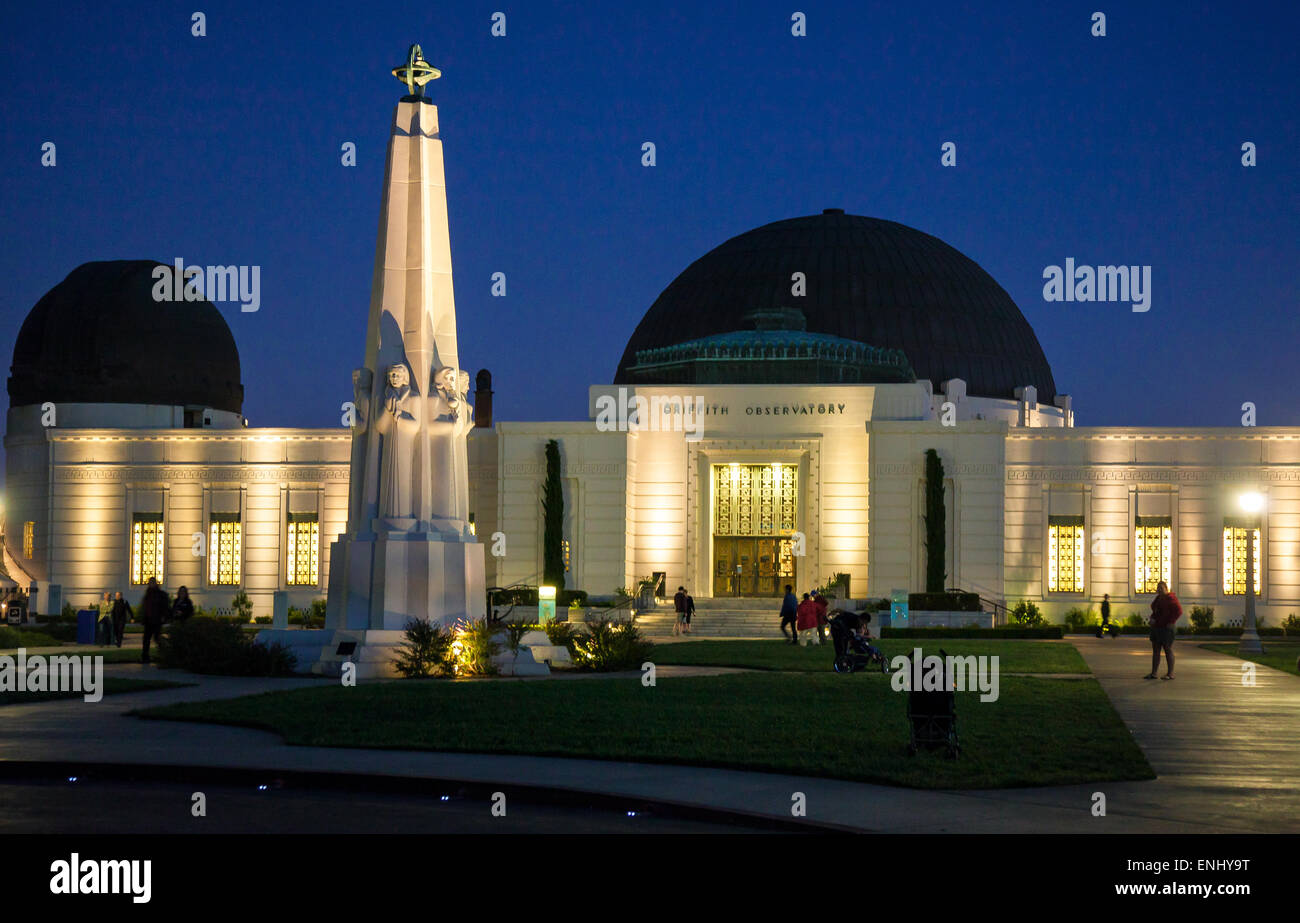 U.S.A., California, Los Angeles, the Griffith Observatory - Stock Image