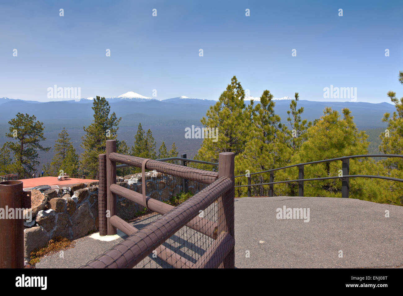 Viewpoint from top of Lava Butte in Central Oregon. - Stock Image