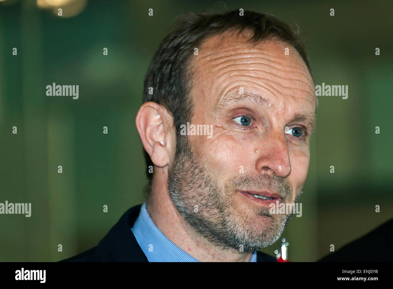Elsinore, Denmark. 6th May, 2015. Danish foreign minister, Mr. Martin Lidegaard pictured at the press conference - Stock Image