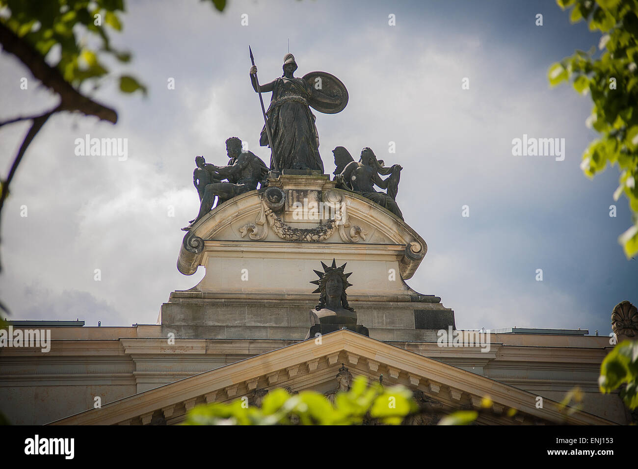 old baroque Dresden - vintage statue - Stock Image
