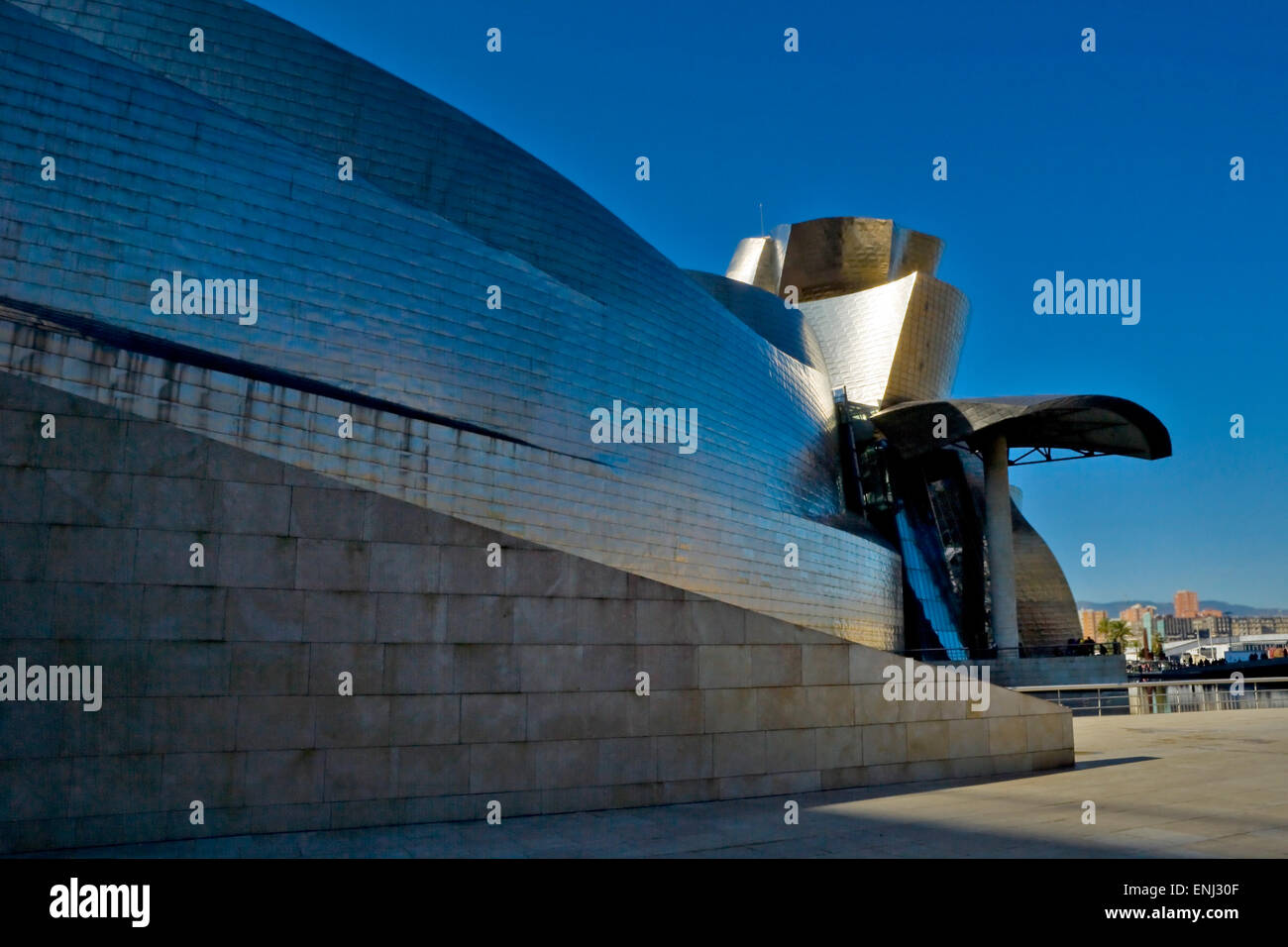 Guggenheim Museum Bilbao, Modern, Architecture, Art Gallery, Arts Culture and Entertainment, - Stock Image