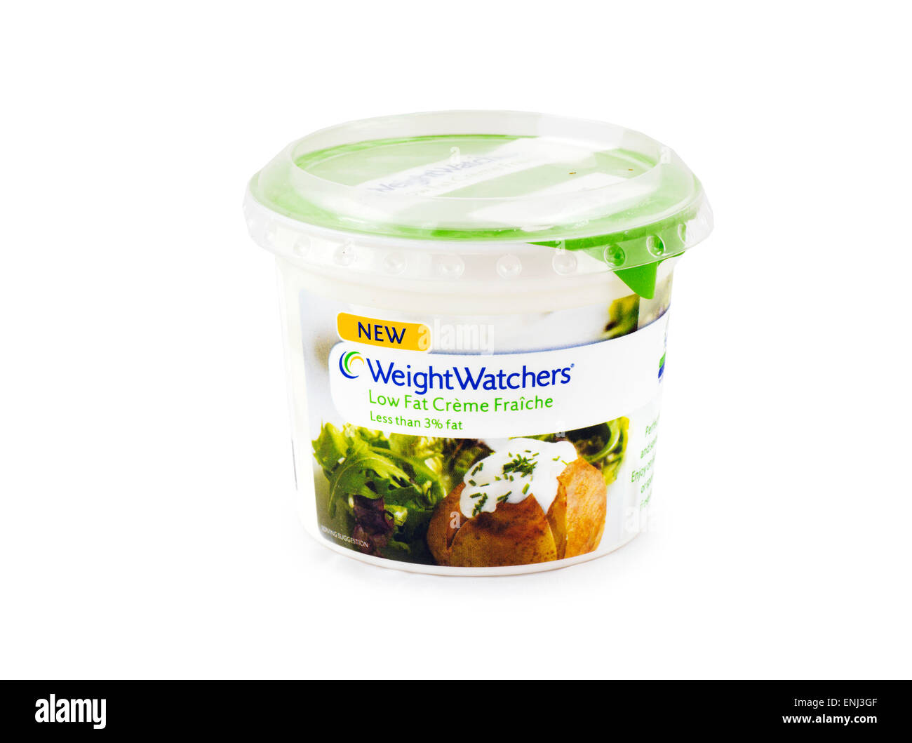 Weight Watchers Low Fat Creme Freche - Stock Image
