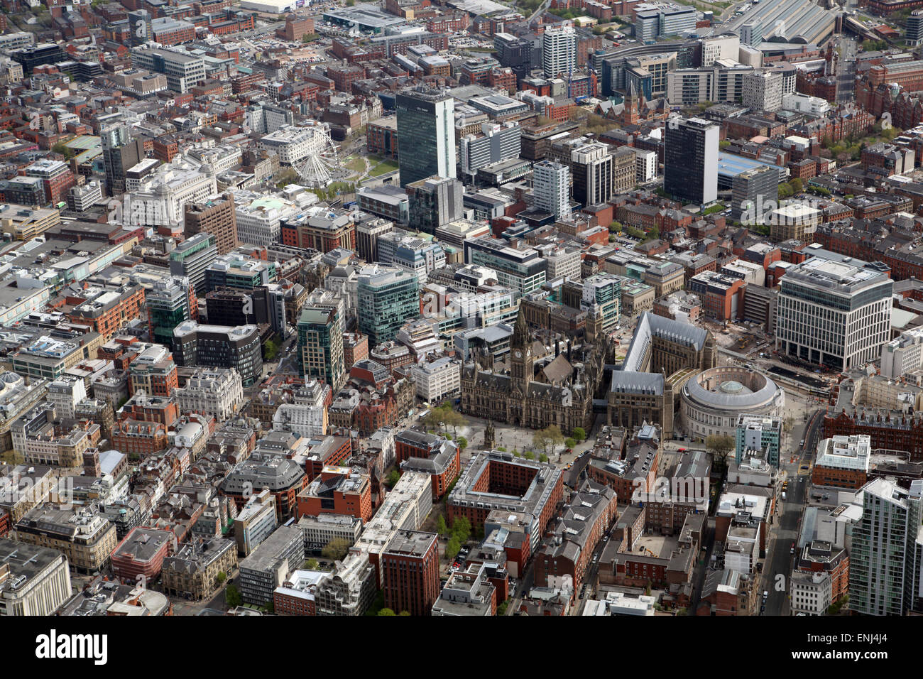 aerial view of Manchester city centre, UK Stock Photo