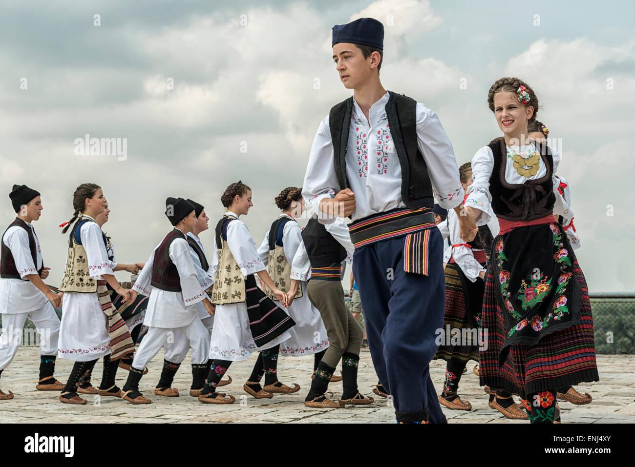 Traditional Serbian dance,Belgrade,Serbia - Stock Image