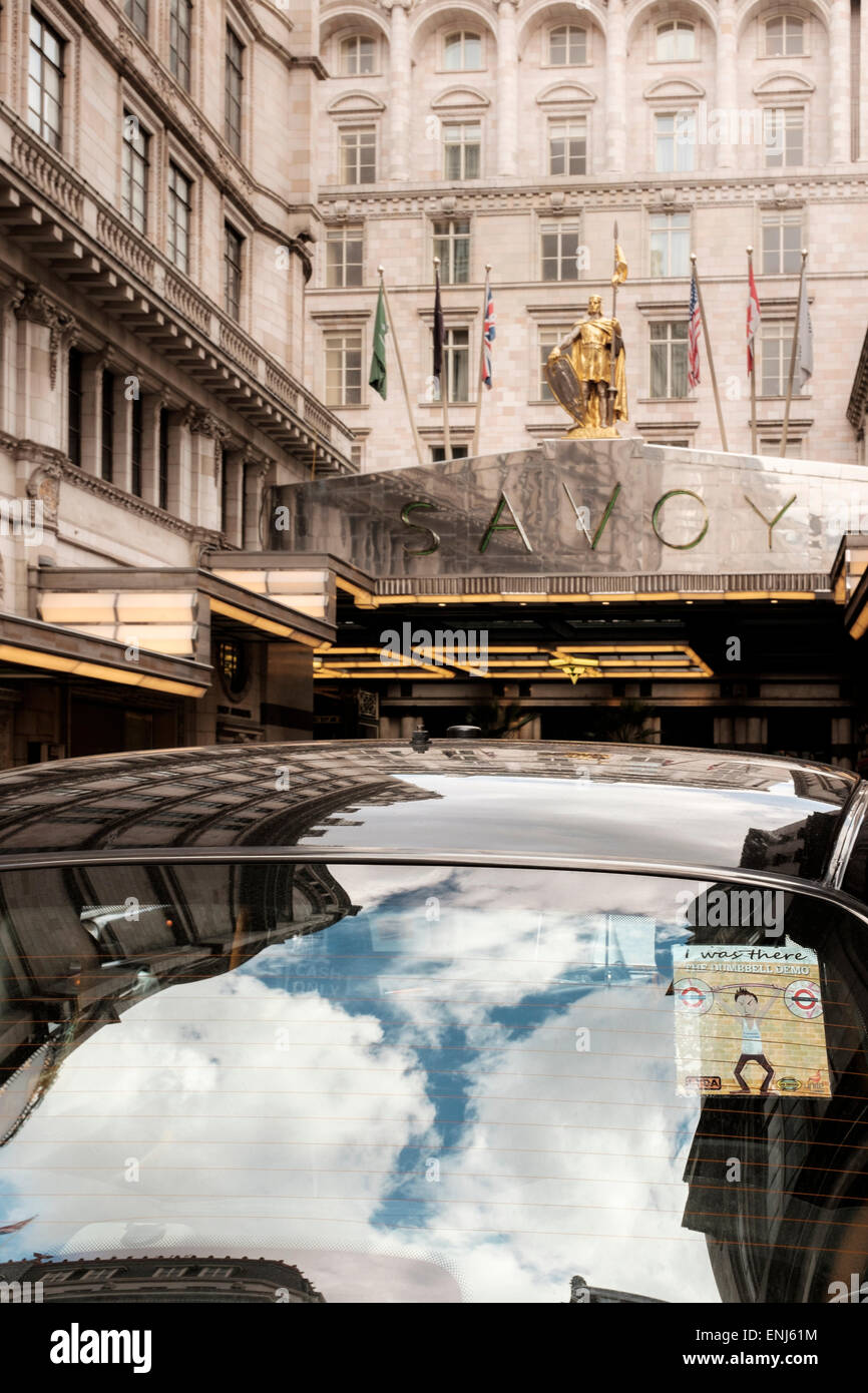 The Savoy Hotel on The Strand,London,England - Stock Image