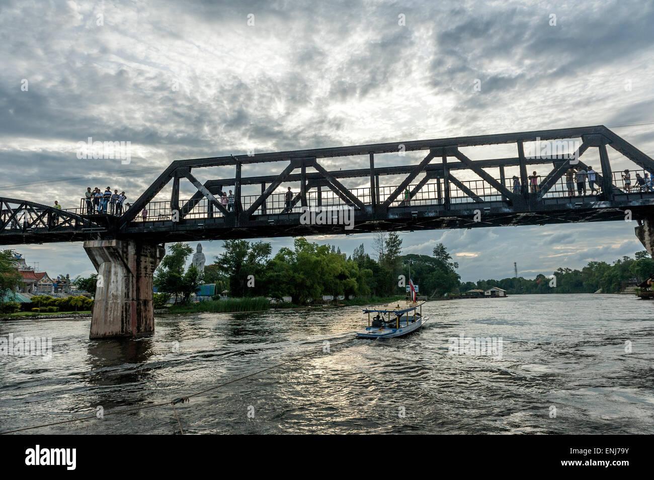 Bridge on the river Kwai. Kanchanaburi, Kanchanaburi Province, Thailand - Stock Image