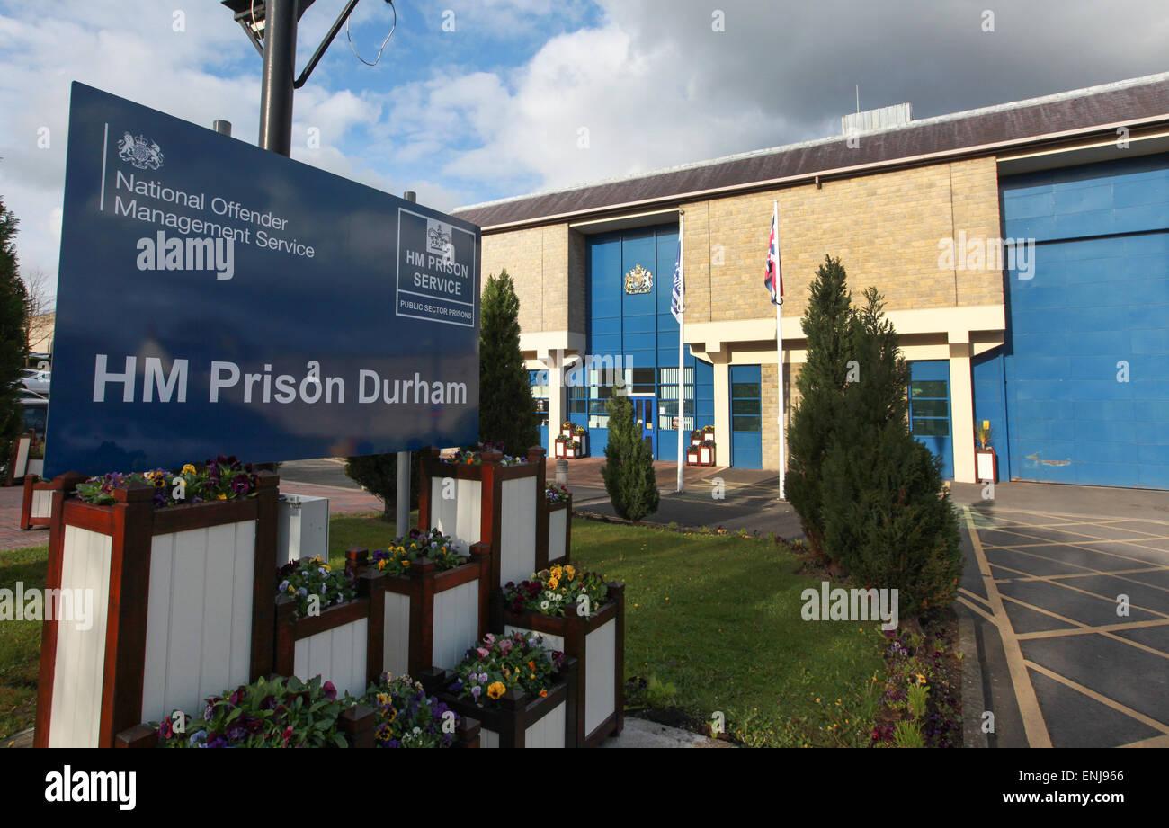 Durham Prison exterior Durham UK - Stock Image