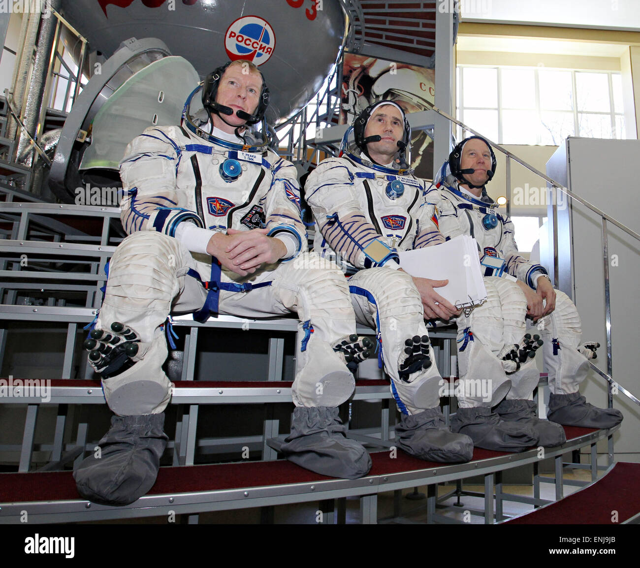 Star City, Russia. 06th May, 2015. International Space Station Expedition 44/45 backup crew members Timothy Peake - Stock Image
