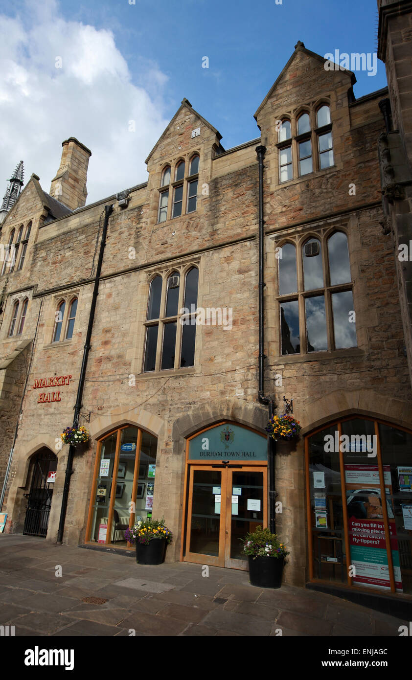 Durham Town Hall Market Hall And The Church Of St Nicholas At