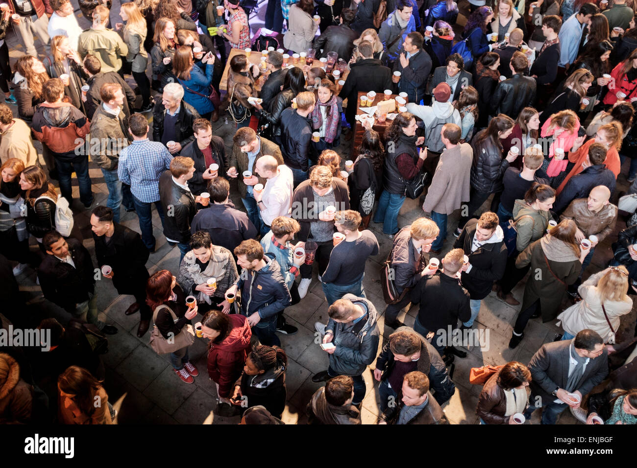 People having a drink ,The South Bank,London,England - Stock Image