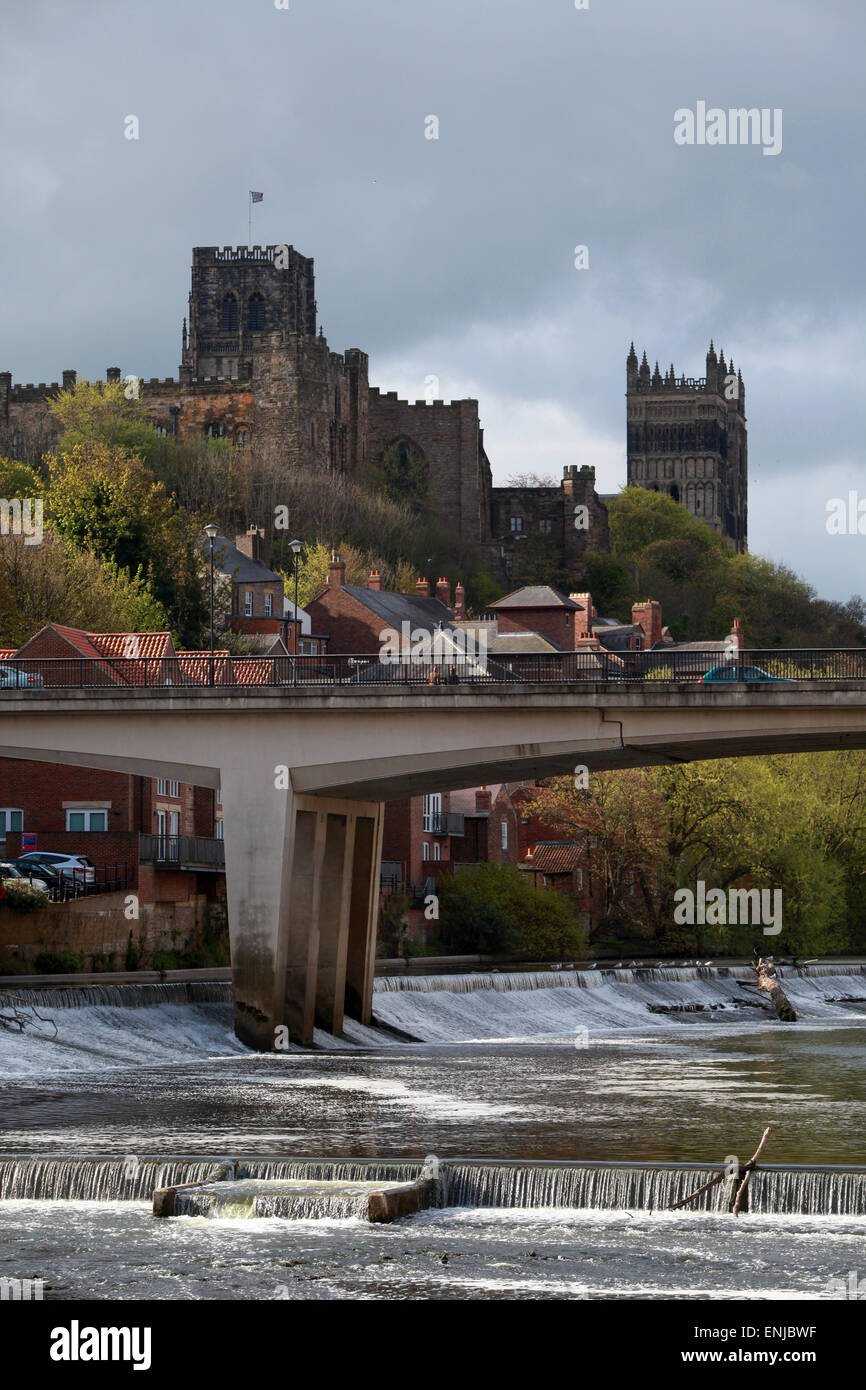 Framwellgate Dam On The River Wear In Durham City Centre With Durham