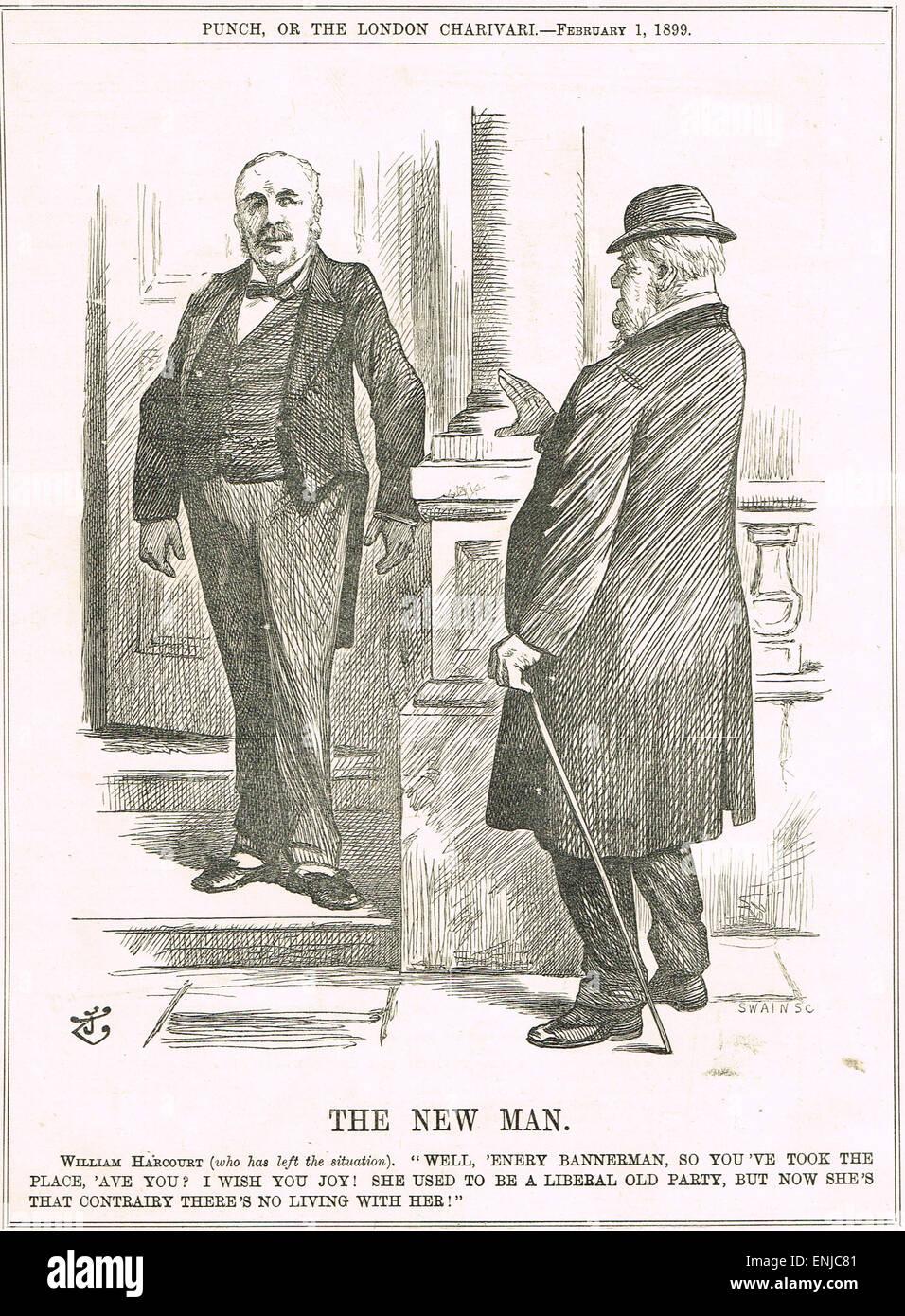 John Tenniel Punch Cartoon 1899 New Liberal Leader - Stock Image