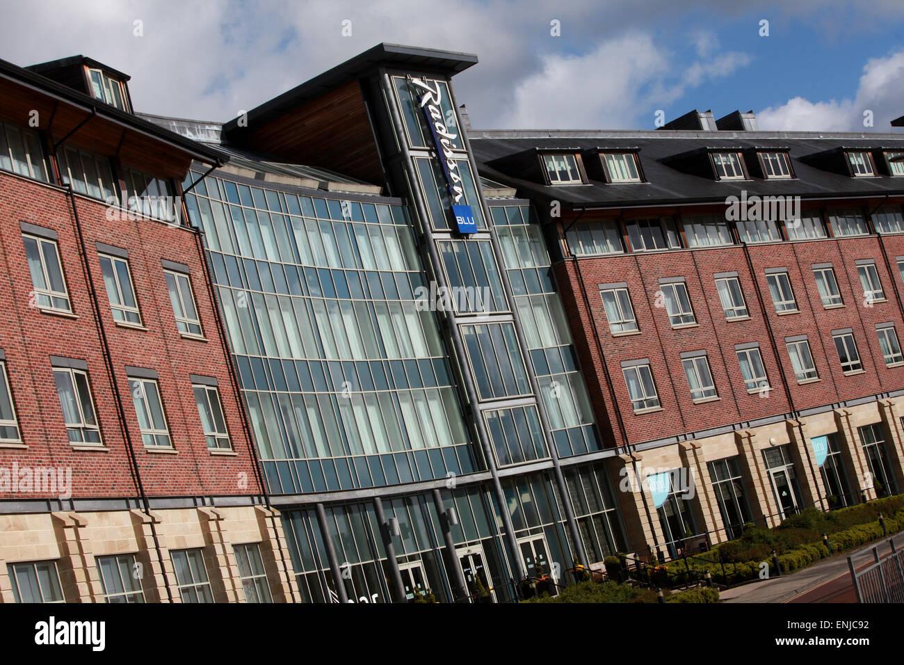 Radisson Blu Hotel Durham exterior Durham city centre - Stock Image