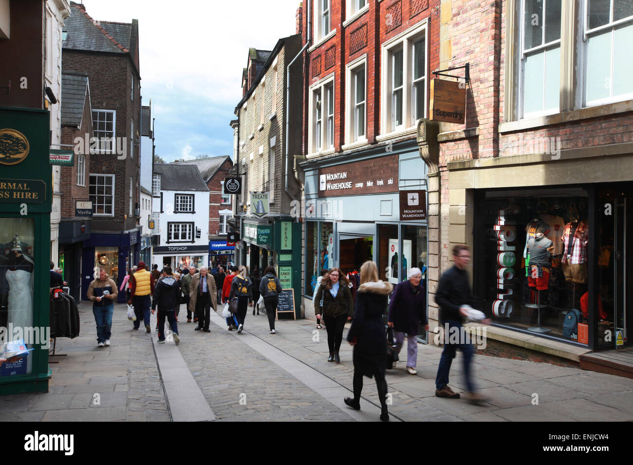 Shopping In Durham City Centre Stock Photo 82154496 Alamy
