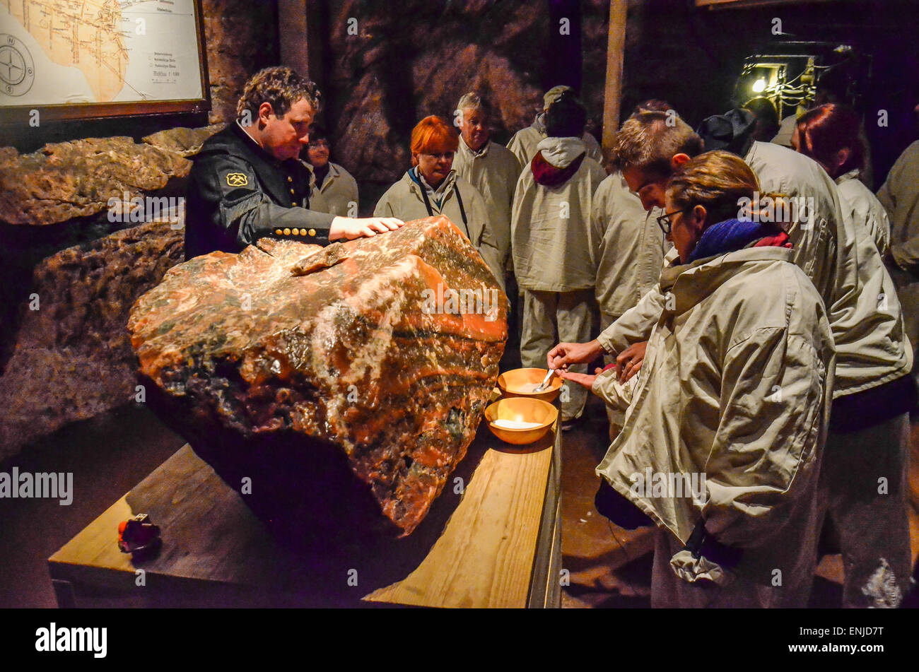 Altaussee Salt Mine in Ausseerland has a long and storied history. It all began during the High Middle Ages, in Stock Photo