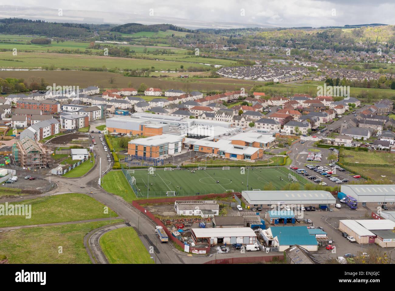 Urban regeneration, Scotland - Raploch Community Campus and housing developments - Stock Image