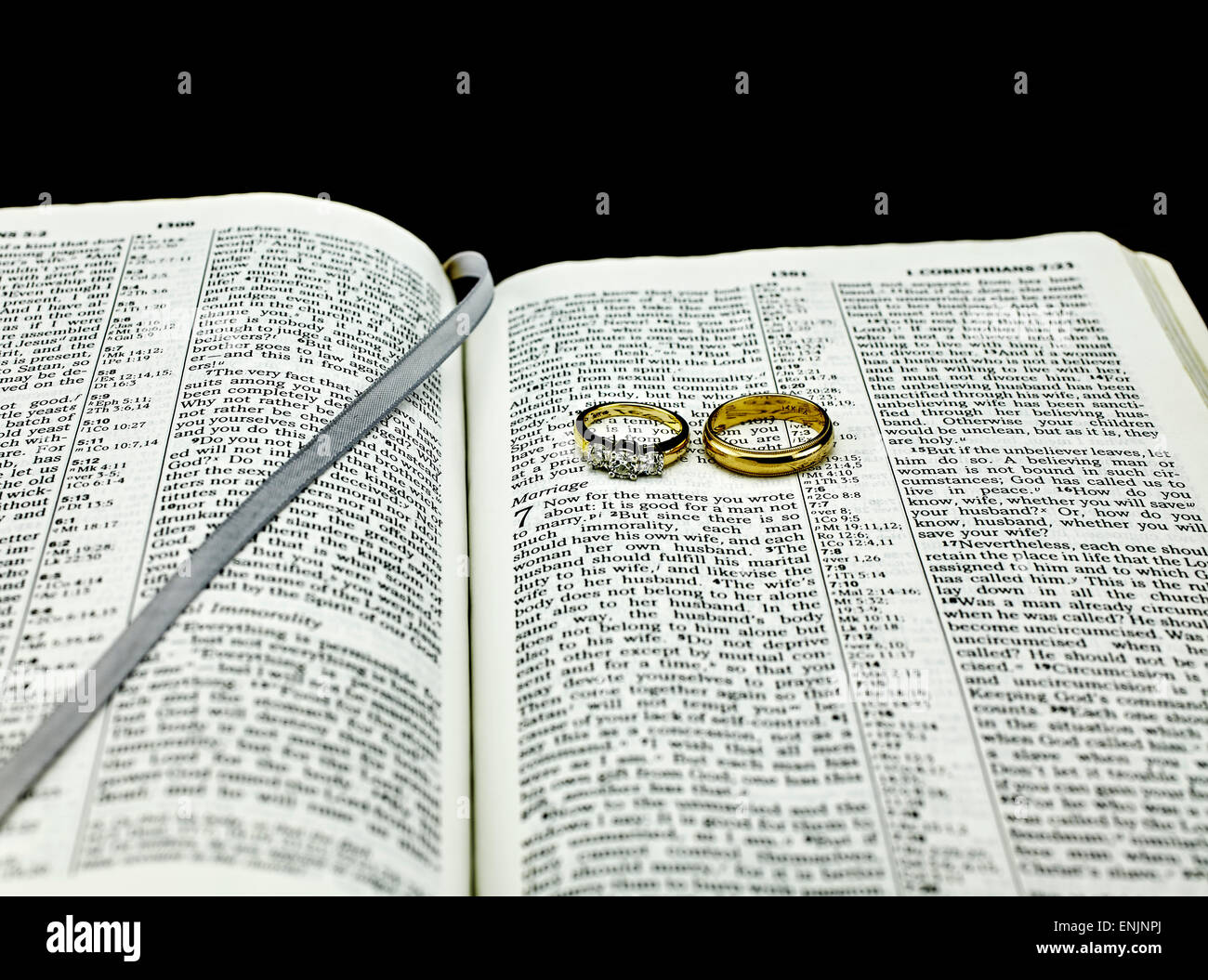 of wedding chapters image scripture rings stock band flowers bible and