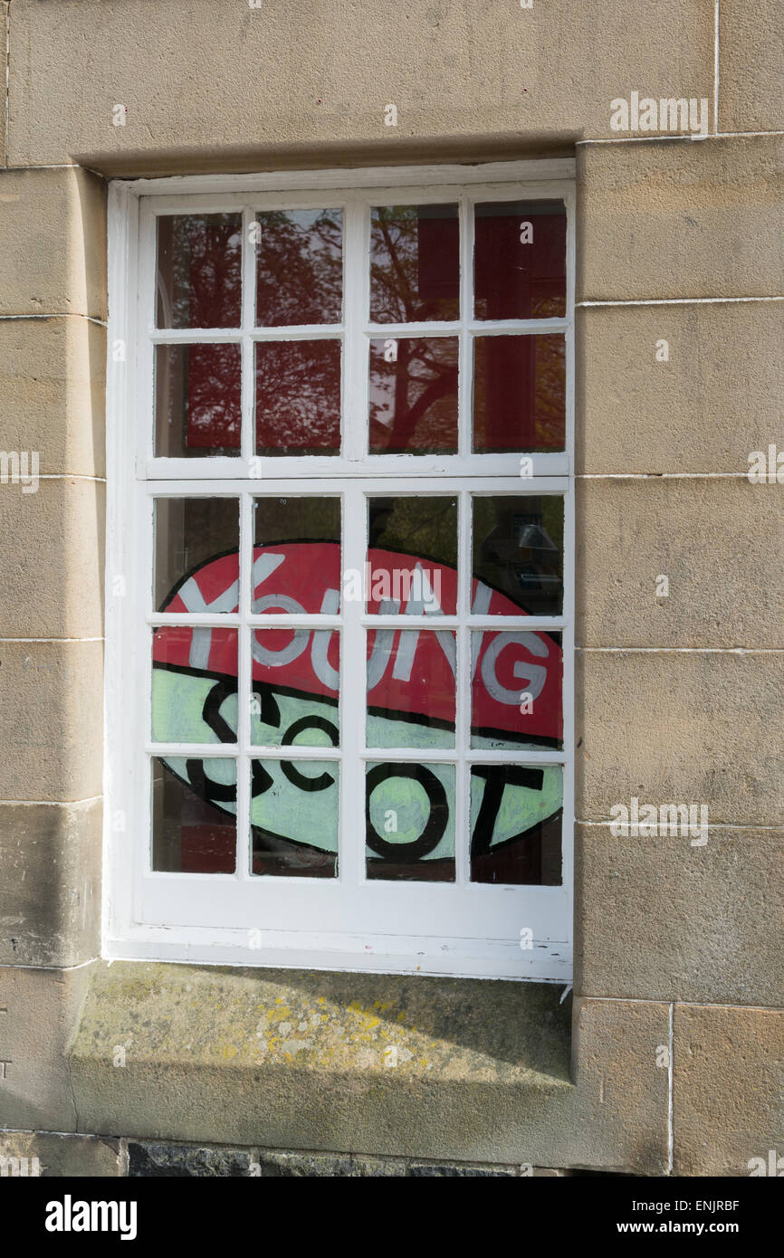 The Young Scot National Entitlement Card advertised in a Stirling window - Stock Image