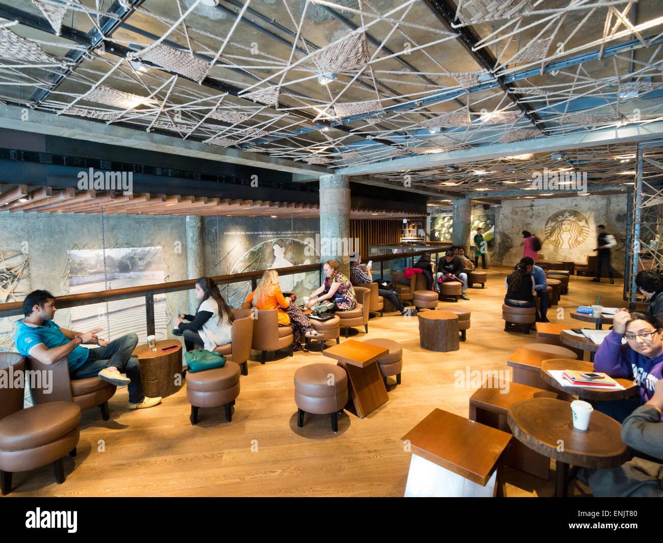 Starbucks in Delhi India Stock Photo