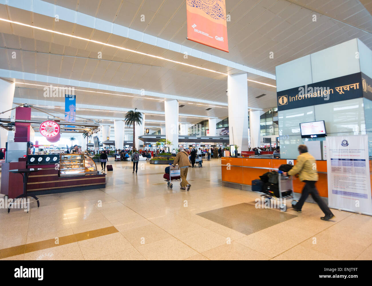 Indira Gandhi International airport in Delhi India Stock Photo
