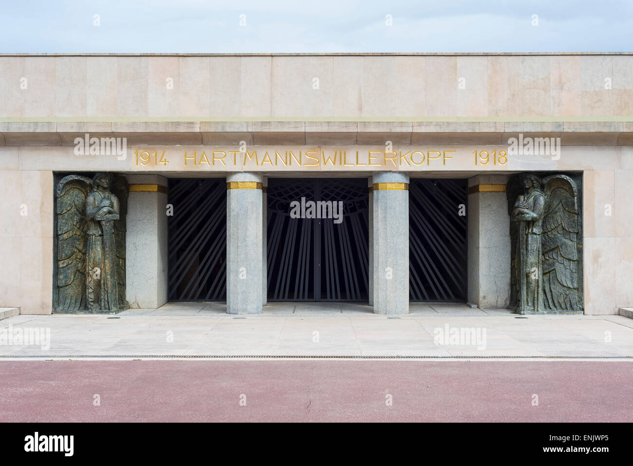 Altar of the Fatherland, Hartmannswillerkopf, national monument of World War I, built in 1924-1929, Wattwiller, - Stock Image