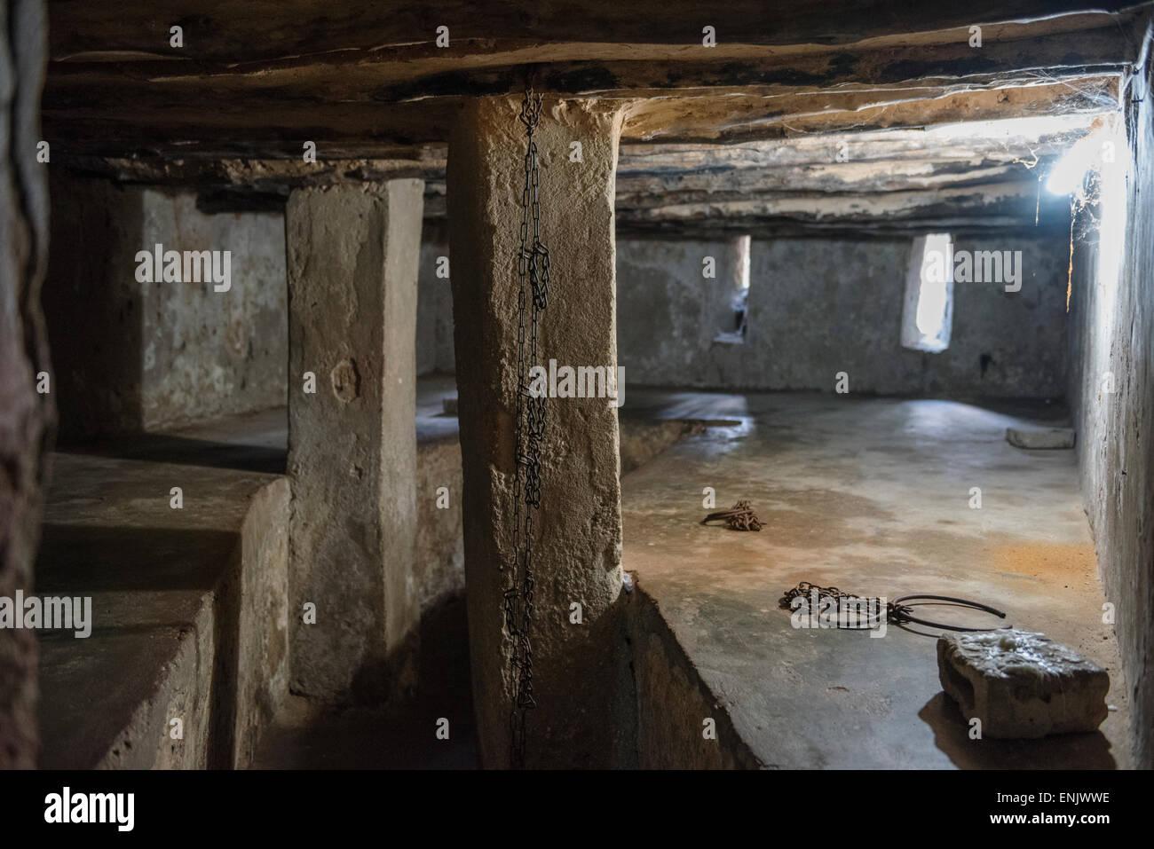 Slave prison, Zanzibar, Stone Town, Unguja, Zanzibar Archipelago, Tanzania - Stock Image