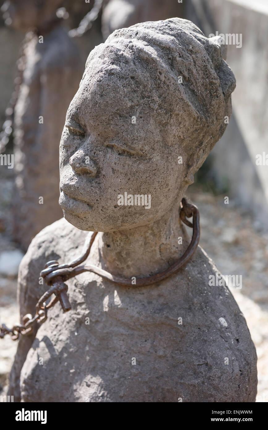 Slavery monument of Clara Sornas, Zanzibar, Stone Town, Zanzibar Archipelago, Unguja, Tanzania - Stock Image
