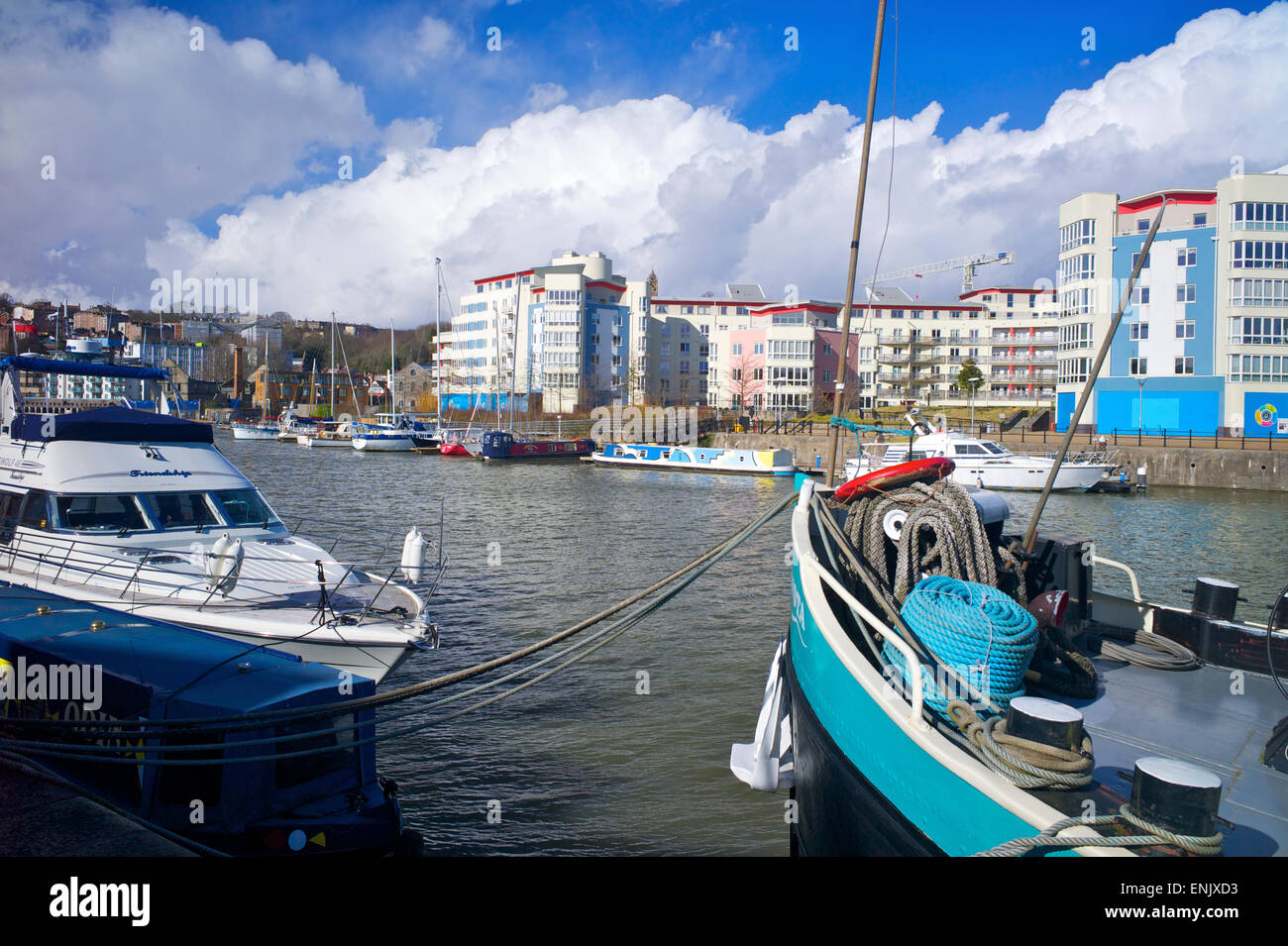 Bristol harbour, Bristol, England, United Kingdom, Europe - Stock Image